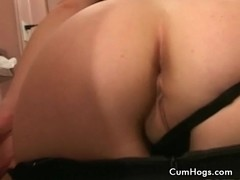 Horny Brunette slut sucked cock and get banged reverse cowgirl style