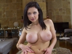 Aletta Ocean playing with her ass