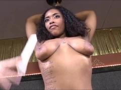 Hot ebony stripper bukkake facial by big black boners