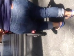 Mexican Milf walking