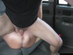 Posh euro amateur assfucked in bogus taxi