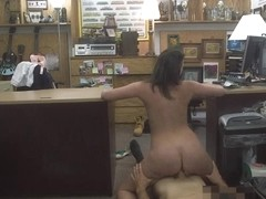 Sexy wife of a customer gets twat fucked by horny pawnkeeper