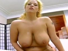 BBW beauty Jasmine performs rodeo on dick