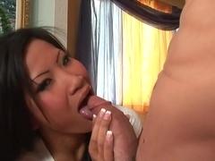 Incredible pornstar Christine Aguchi in amazing mature, blowjob porn video