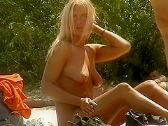 Voyeur at crowded girls nudist beach