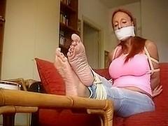 nice feet hogtie