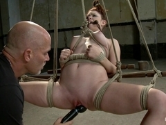 Melody Jordan & Mark Davis in Melody Jordan Contorted In Severe Rope Bondage - HogTied
