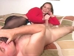 Sniffing her hot hose