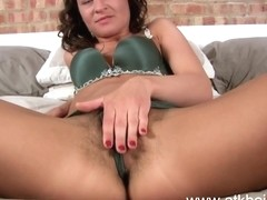 Beth Chance fiingers her perfect hairy pussy