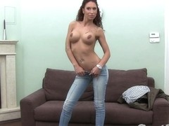 Casting HD Latino dancer does anal in casting