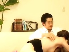 Voyeur porn video with japanese cock drilling dripping bun