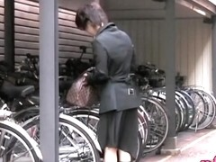 Wild street sharking video featuring a sexy Japanese girl