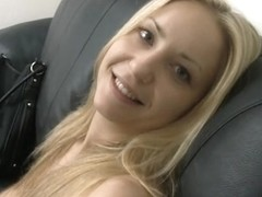 XXX casting movie with an amazing blonde slut showing her skills