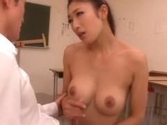 Busty mil Reiko Kobayakawa likes hardcore