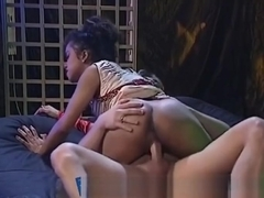 Ebony Babe Gets Her Nice Wet Twat Banged Hard