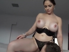Brunette Alexandra Sivroskya Filled With Big Dick