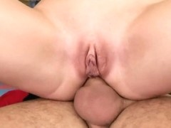 Natasha Brill rides up cock feeling it in ass