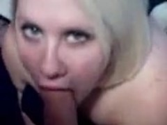 blonde sucks and gives titwank