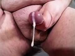 Chubby Uncut Daddy Big Cock Cums In Slow Motion Bukkake POV