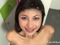 Yukiko Acquires A Moisturizing Face Full Of Cum