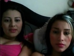 Two sexy college Latinas show their big tits on sites