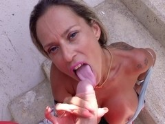 Fit Busty Milf Helena, Real Pickup And Fuck