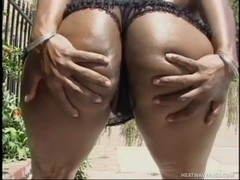 Hot Black Ass Fucking Outside