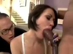 Perv Watches Sexy Gf Sarah Shevon Sucking A Big Black Cock