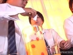 Pretty Japanese teen Ai Uehara in a kinky group action