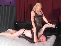 Black spandex wrestling