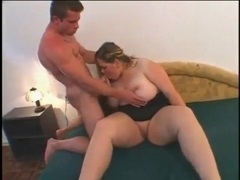 Fucking delicious horny fat bbw college girl gf with shaven pussy-1