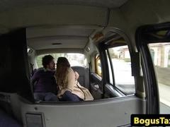 Eurotaxi slut fucks boyfriend in cab
