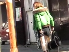 Public sharking video showing a cute Japanese chick