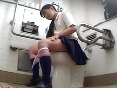 Frisky schoolgirl shot while masturbation on spy cam