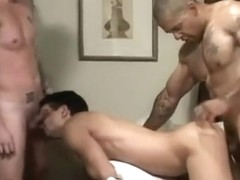 Barebacking Interracial 3way