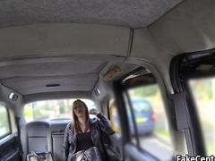 Tattooed bbw got big cock in taxi