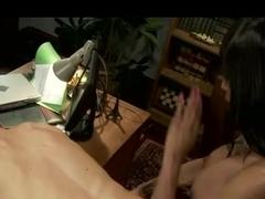 Black tranny babe fucks a guy to submission