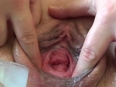 Fabulous amateur Close-up, Pissing sex scene