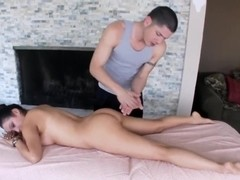 Linda Lay gets massaged good in close up
