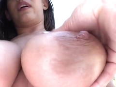 Raylene is proud of her giant boobs and big ass