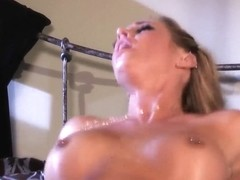 Great lady with amazing forms Samantha Saint fucks with her lover all night long