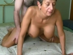 Fit Granny's Cunt Aches for junior Cock
