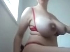 saggy tits mom vacuum home
