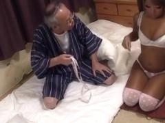 Cock sucking during sneaky voyeur action