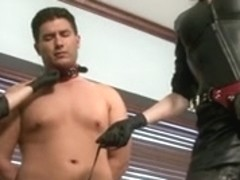 2 Doms Use Office Villein With Belt-ons