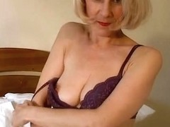 Pleasing Mama Hazel May Plays With Her Curly Snatch
