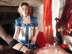 Mature dominatrix fucks her sissy thrall in HD