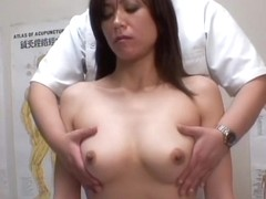 Amazing voyeur clip with a hot babe on a massage therapy