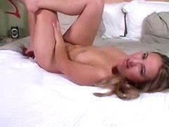 Ravishing girlfriend laying naked on the bed in this amateur clip