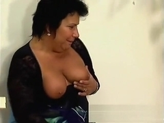 Stacked brunette plumper Tracy gets her fiery anal hole drilled deep